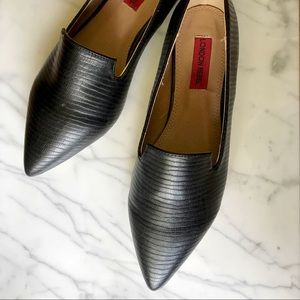 NEW London Rebel Black Snake Pointed Loafers